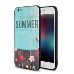 IPhone 6 Plus New Hybrid Design Case Summer/Blue