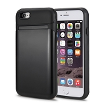 iPhone 6S Plus/6 Plus New Hybrid Case With Built-in Mirror/Card Slot/Stand Black