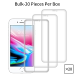 iPhone 8 Plus/7 Plus/6 Plus Premium Tempered Glass Screen Protector Bulk (20 Pieces Per Box No Package)