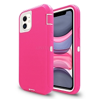 iPhone 11 New Heavy Duty Defender Case Pink/White