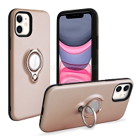iPhone 11 New Hybrid Case With Ring Rose Gold