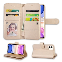 iPhone 11 New WCL Triple Layer Compartments Wallet Case Gold