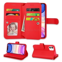 iPhone 11 New WCL Triple Layer Compartments Wallet Case Red