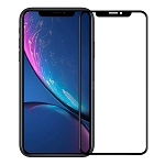 iPhone 11/XR Full Size Tempered Glass Screen Protector Black