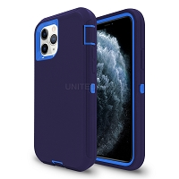 iPhone 11 Pro Max New Heavy Duty Defender Case Dark Blue/Dark Blue
