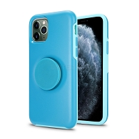 iPhone 11 Pro Max New PXO Pop Holder Kickstand Case Blue
