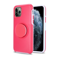 iPhone 11 Pro Max New PXO Pop Holder Kickstand Case Pink