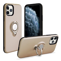 iPhone 11 Pro Max New Hybrid Case With Ring Gold