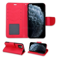 iPhone 11 Pro Max Wallet Case Red