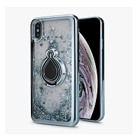 iPhone 6/7/8 New Liquid Quicksand Case With Ring Silver