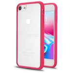 iPhone 8/7/6 New Hybrid Transparent Case Pink