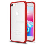 iPhone 8/7/6 New Hybrid Transparent Case Red