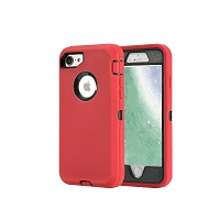 iPhone 6/7/8 Heavy Duty Case With Screen Protector Red/Black