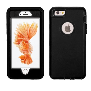iPhone 6/7/8 Heavy Duty Case With Screen Protector Black/Black