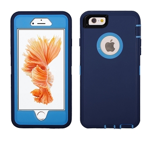 iPhone 6/7/8 Heavy Duty Case With Screen Protector Dark Blue/Dark Blue
