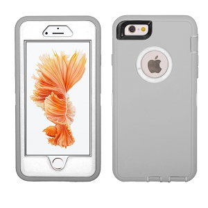 iPhone 6/7/8 Heavy Duty Case With Screen Protector Grey/White