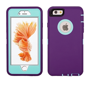 iPhone 6/7/8 Heavy Duty Case With Screen Protector Purple/Blue