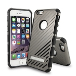 iPhone 6S Plus/6 Plus New Hybrid Case With Kickstand Gray