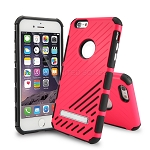 iPhone 6S Plus/6 Plus New Hybrid Case With Kickstand Pink