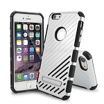 iPhone 6S Plus/6 Plus New Hybrid Case With Kickstand Silver
