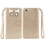 iPhone 6S Plus/6 Plus Sparkle Diamond Case With Butterfly Design Gold