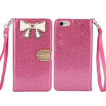 iPhone 6S Plus/6 Plus Sparkle Diamond Case With Butterfly Design Pink