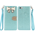 iPhone 6S Plus/6 Plus Sparkle Diamond Case With Butterfly Design Blue