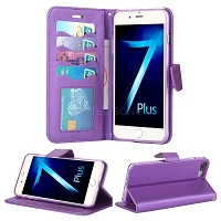 iPhone 8 Plus/7 Plus/6 Plus Wallet Case Purple