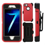 iPhone 6S Plus/6 Plus Heavy Duty Case With Screen Protector and Clip Red/Black