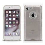 iPhone 8/7/6s/6 New Heavy Duty Defender Case Clear/Gray