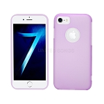 iPhone 8/7 New Hybrid Slim Case Purple/Clear