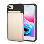 iPhone 8/7 New Hybrid Case With Built-in Mirror/Card Slot/Stand Gold