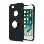 iPhone 8/7 New Hybrid Case With Ring Holder Kickstand Black