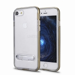 iPhone 8/7 New Transparent Protective Case With Kickstand Gold