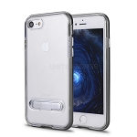 iPhone 8/7 New Transparent Protective Case With Kickstand Gray