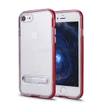 iPhone 8/7 New Transparent Protective Case With Kickstand Red