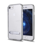 iPhone 8/7 New Transparent Protective Case With Kickstand Silver