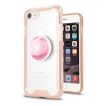 iPhone 7/8 New Tech Hybrid Case With Liquid Pop Holder Pink