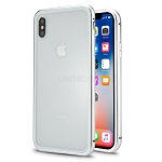 iPhone XS/X New Deluxe Magnetic Hybrid Transparent Case Silver
