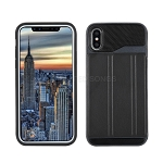iPhone XS/X New Slim Case With Card Holder & Leather Stand Black