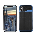 iPhone XS/X New Slim Case With Card Holder & Leather Stand Blue