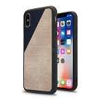 iPhone XS/X New Cloth Texture Style Case Blue