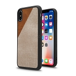 iPhone XS/X New Cloth Texture Style Case Gold