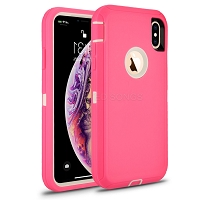 Samsung Galaxy A20/A30/A50 New Heavy Duty Defender Case Pink/White