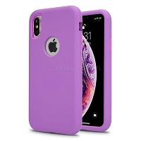 iPhone 11 Pro Max New Triple Layer Hybrid Protective Case Purple/Purple