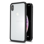 iPhone XS Max New Deluxe Magnetic Hybrid Transparent Case Black