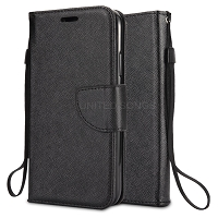 Samsung Galaxy A10s Wallet Case Black
