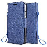 Motorola Moto E6 Wallet Case Blue
