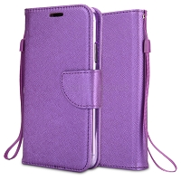 Samsung Galaxy A10s Wallet Case Purple