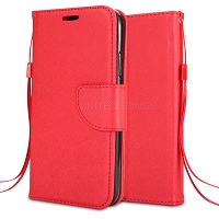 Samsung Galaxy A10s Wallet Case Red